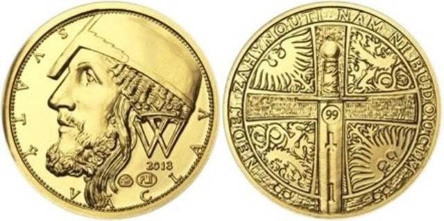 Zlatý dukát číslovaný v mincovní ploše